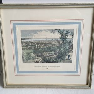 Other - Vintage Framed Picture of Hamilton and Burlington